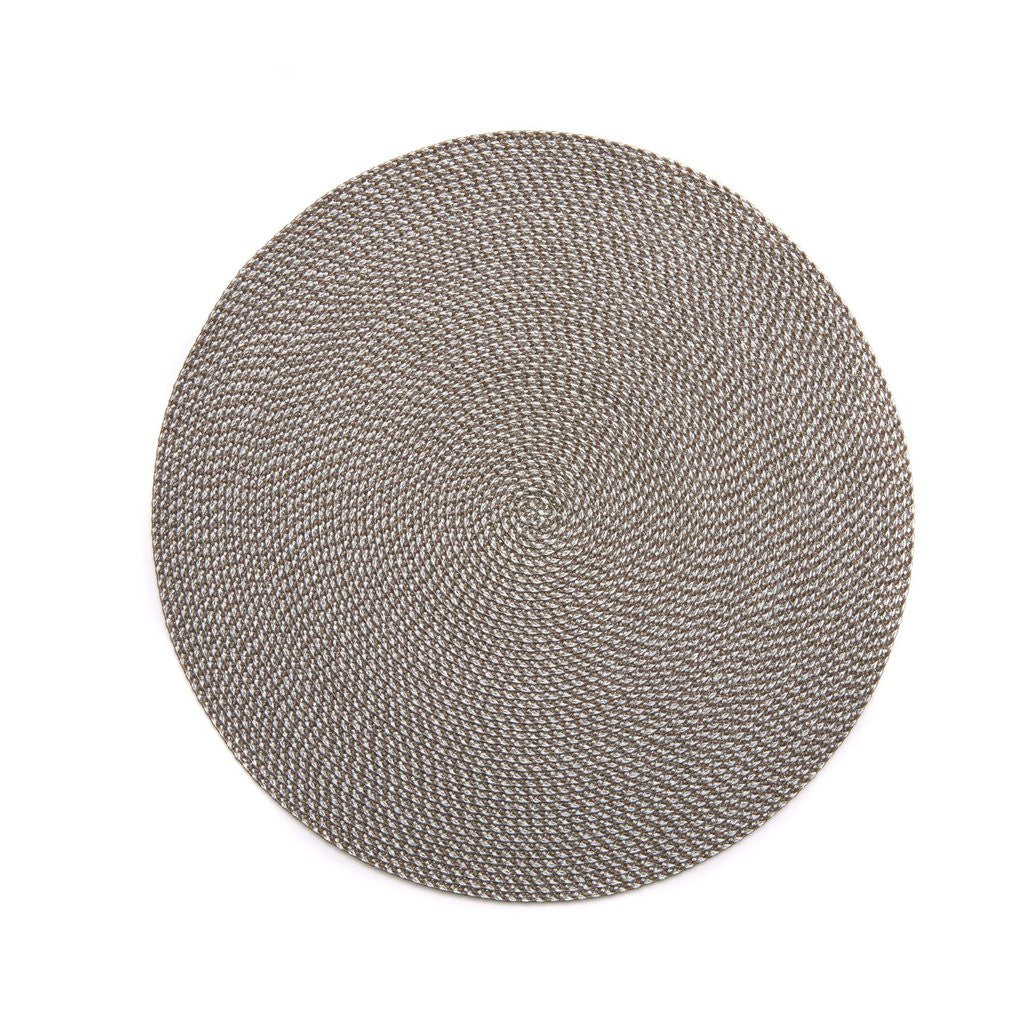 Deborah Rhodes - Muted Basketweave Placemats - Dust/Silver