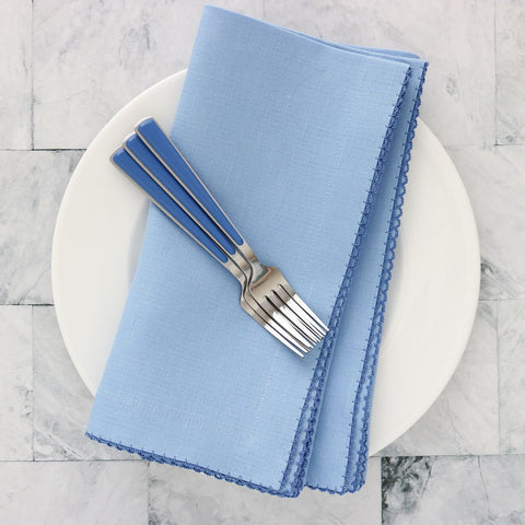 Picot Edge Napkins - Cool Blue 1128