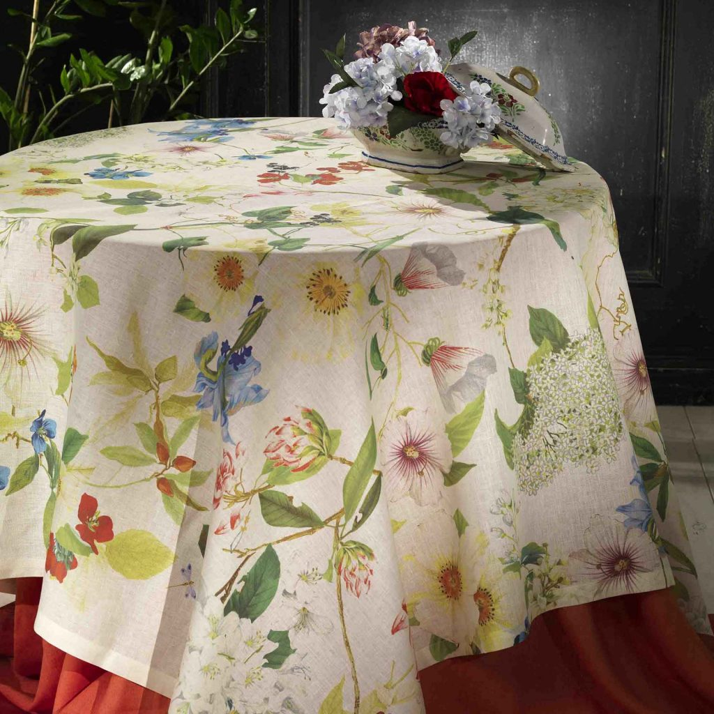 Tessitura Toscana Telerie - Ibisco Printed Tablecloth