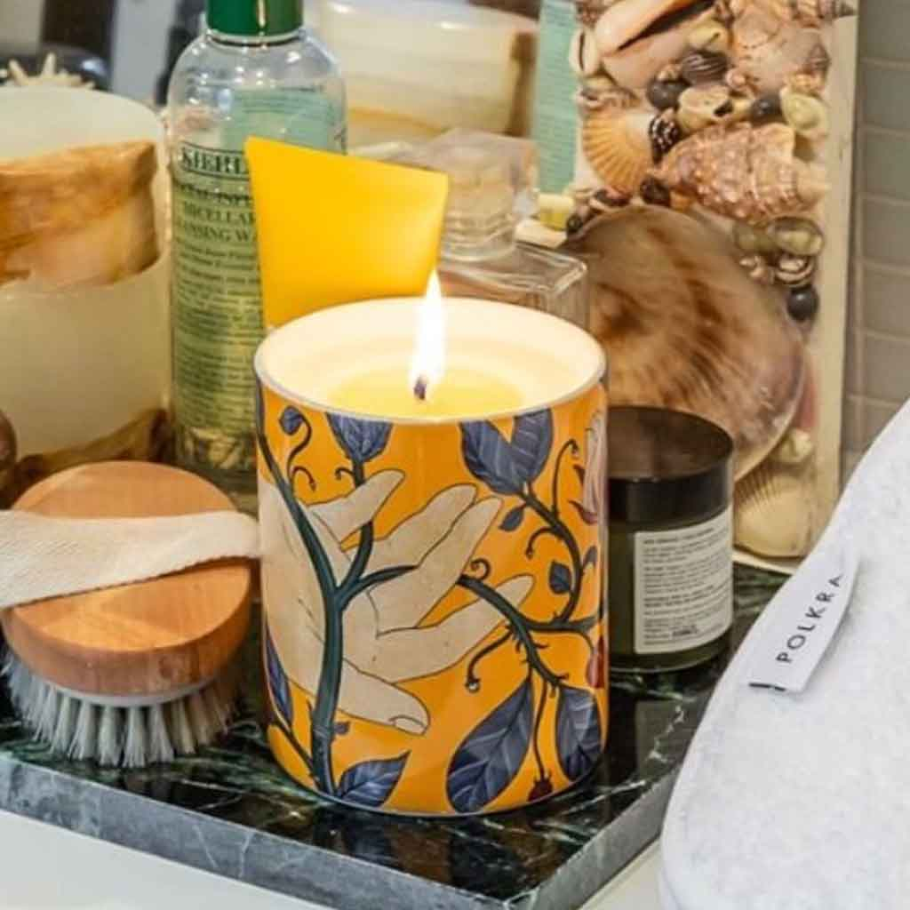 100% Natural Coconut & Bees Wax Candle - Calypso - POLKRA