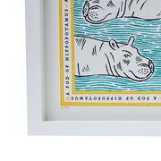 Signed Collective Noun Print - A Pod of Hippopotamus - POLKRA