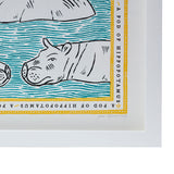 Fee Greening Signed Hippo Print - POLKRA