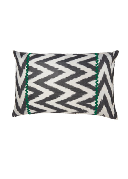 Tuberose iKat Silk Cushion Cover - POLKRA
