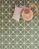 Hawthorn Handwoven Cotton Rug Green