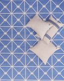 Hawthorn Handwoven Cotton Rug Blue - POLKRA