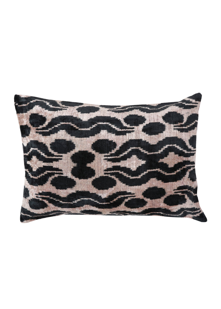 Bergamot iKat Velvet Cushion Cover with Burgundy Linen Backing - POLKRA