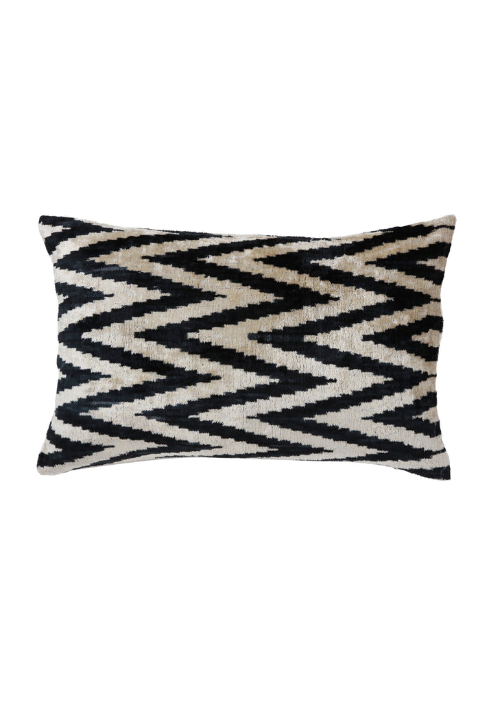 Deadly Nightshade iKat Velvet Cushion Cover - POLKRA
