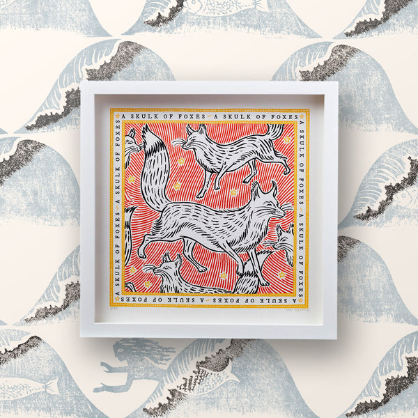 Signed Collective Noun Print - A Skulk of Foxes - POLKRA