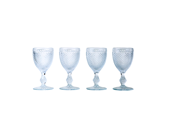 White Wine Glass Set - Clear