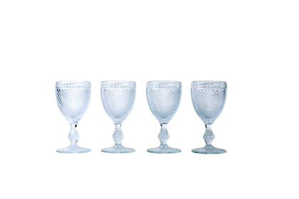 Red Wine Goblet Set - Clear