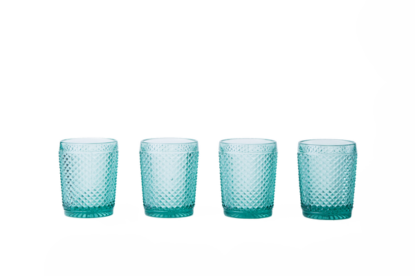Glass Tumbler Set - Mint Green - POLKRA