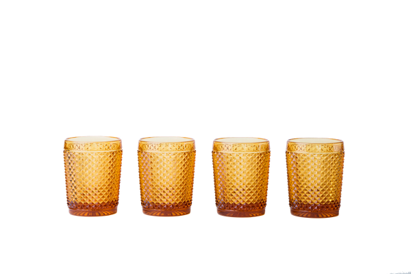 Glass Tumbler Set - Amber - POLKRA