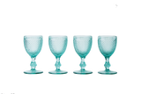 White Wine Glass Set - Mint Green - POLKRA