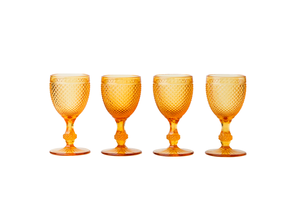 Red Wine Glass Set - Amber - POLKRA