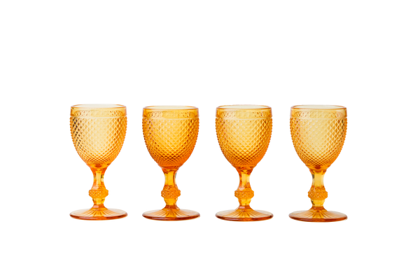 White Wine Goblet Set - Amber - POLKRA