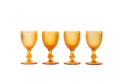 Red Wine Goblet Set - Amber