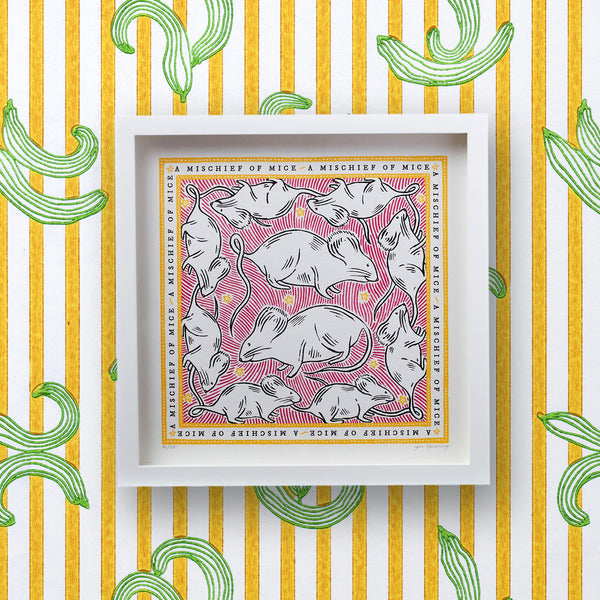 Signed Collective Noun Print - A Mischief of Mice