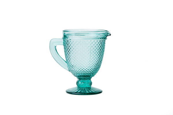 Glass Pitcher - Mint Green