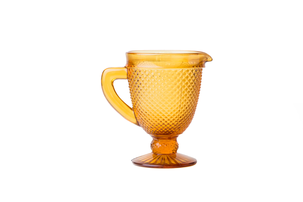 Glass Pitcher - Amber - POLKRA