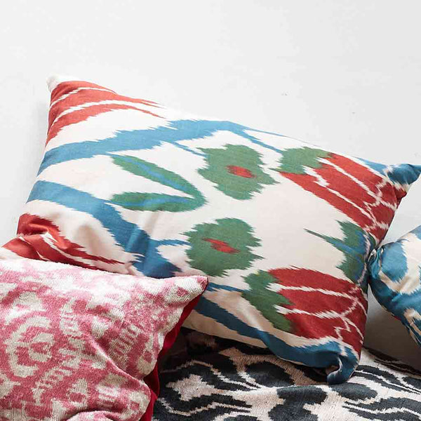 iKat Silk Cushion Cover - Sweet Sultan - POLKRA