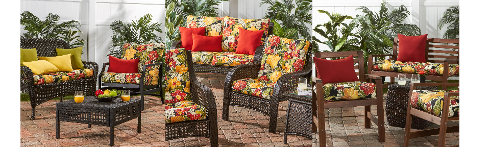 Aloha Black Outdoor Bench Chair Cushions