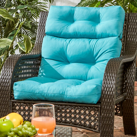 ... Coastal Collection Highback Outdoor Chair Cushion ...