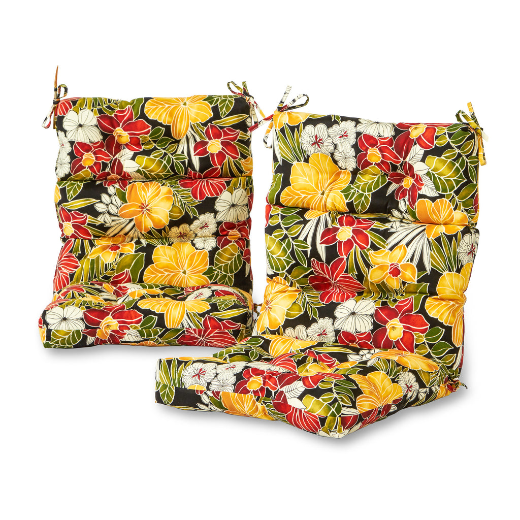 Outdoor Highback Chair Cushion Set Set Of 2 Cushions