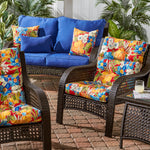 Outdoor Highback Chair Cushion Set - SET OF 2