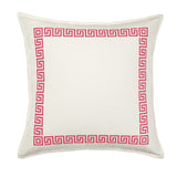 "20"" Greek Key Border Toss Pillow"