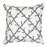 "20"" Square Lattice Pattern Toss Pillow"