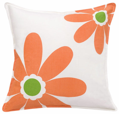 "20"" Square Toss Pillow - Daisy/Paisley Patterns"