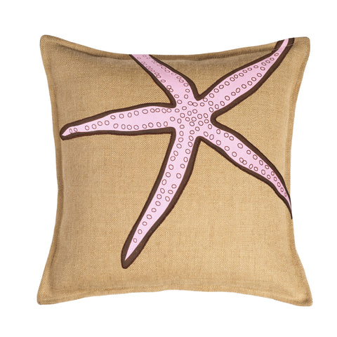 "20"" Square Burlap Toss Pillow"