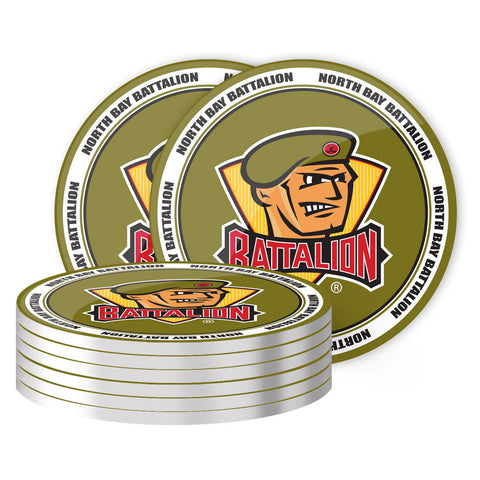 North Bay Battalion - 8 Pack Coaster Set
