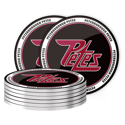 Peterborough Petes - 8 Pack Coaster Set