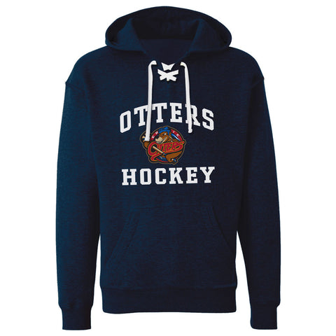 Erie Otters Adult Navy Lace Hoody - Design 27
