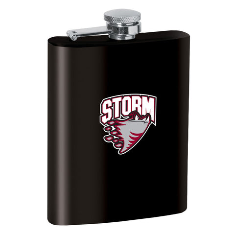 Guelph Storm 8oz Black Stainless Steel Flask