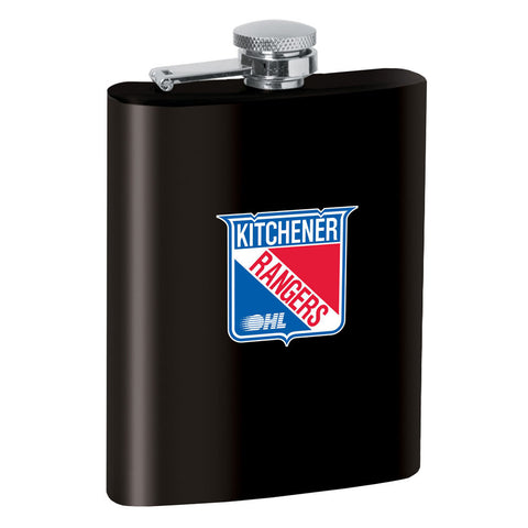 Kitchener Rangers 8oz Black Stainless Steel Flask