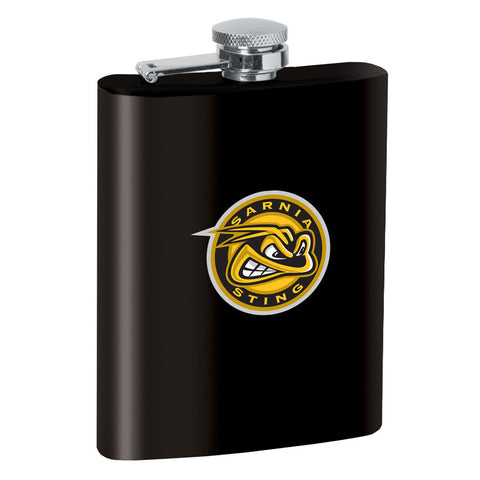 Sarnia Sting 8oz Black Stainless Steel Flask