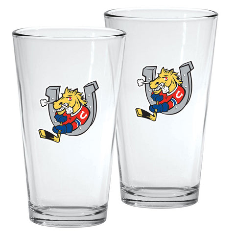 Barrie Colts - 2pk. 16oz Mixing Glass Set