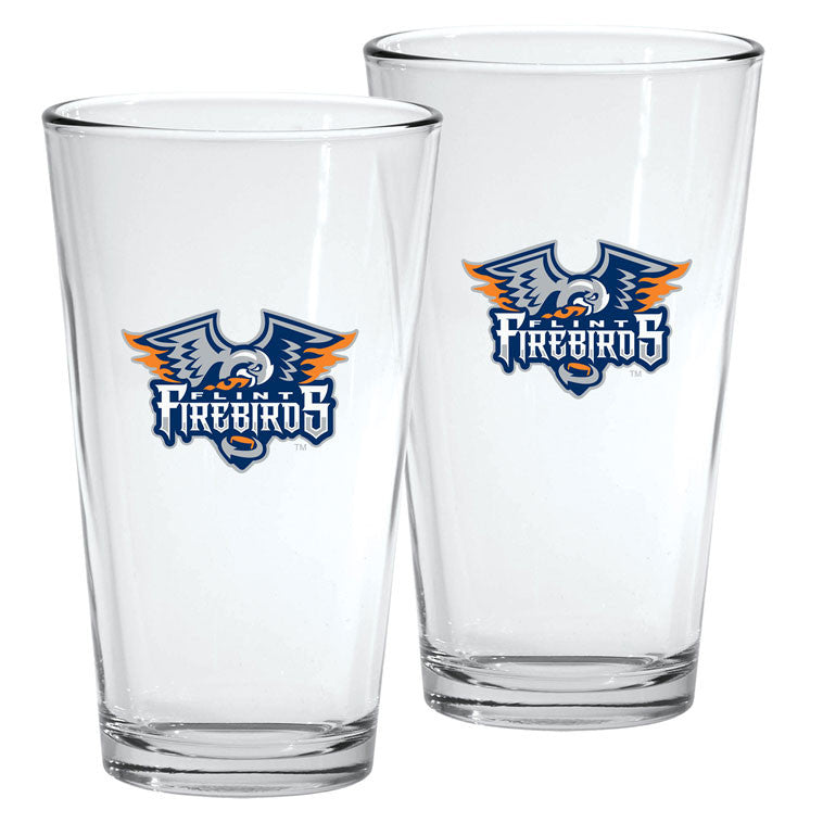 Flint Firebirds - 2pk. 16oz Mixing Glass Set
