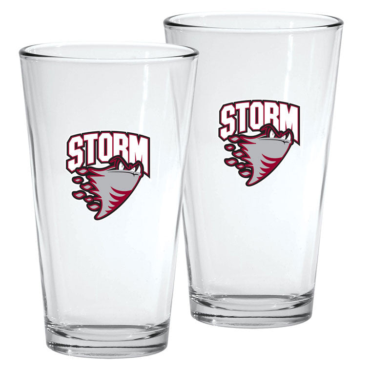 Guelph Storm - 2pk. 16oz Mixing Glass Set