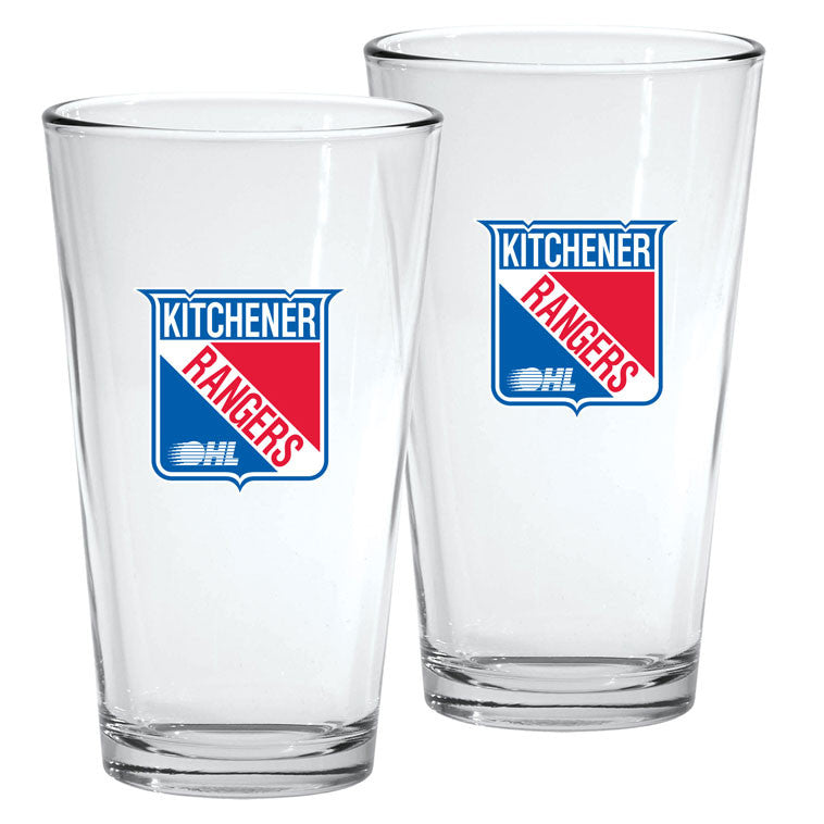 Kitchener Rangers - 2pk. 16oz Mixing Glass Set