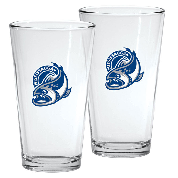 Mississauga Steelheads - 2pk. 16oz Mixing Glass Set