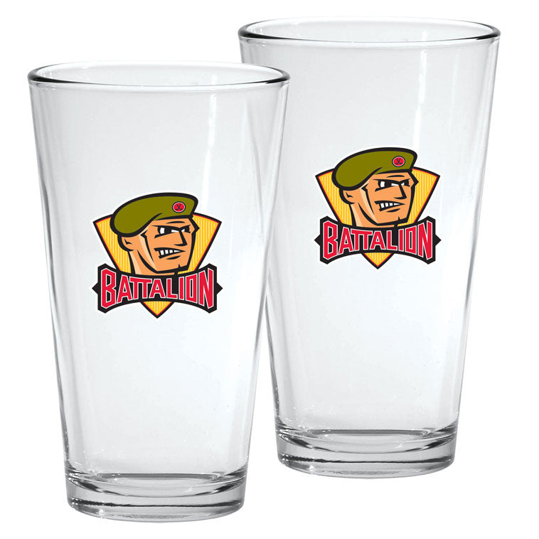 North Bay Battalion - 2pk. 16oz Mixing Glass Set