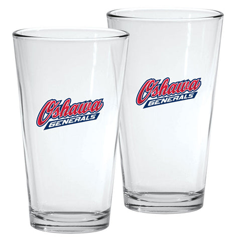 Oshawa Generals - 2pk. 16oz Mixing Glass Set