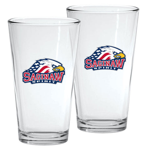 Saginaw Spirit - 2pk. 16oz Mixing Glass Set