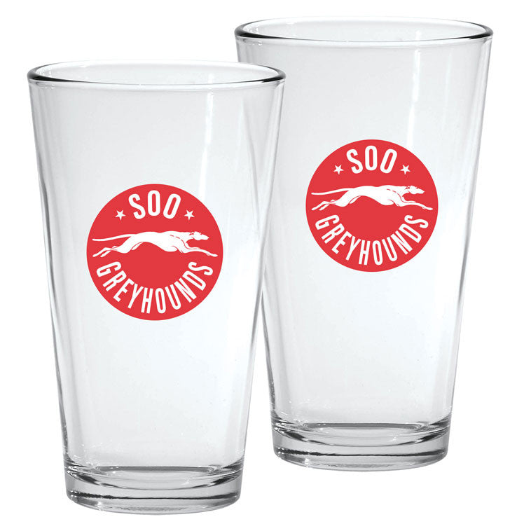 SSM Greyhounds - 2pk. 16oz Mixing Glass Set