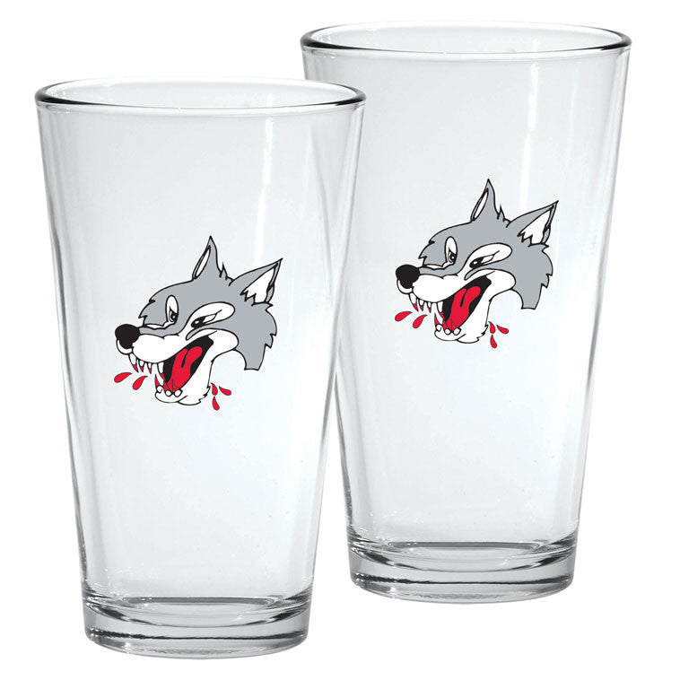 Sudbury Wolves - 2pk. 16oz Mixing Glass Set