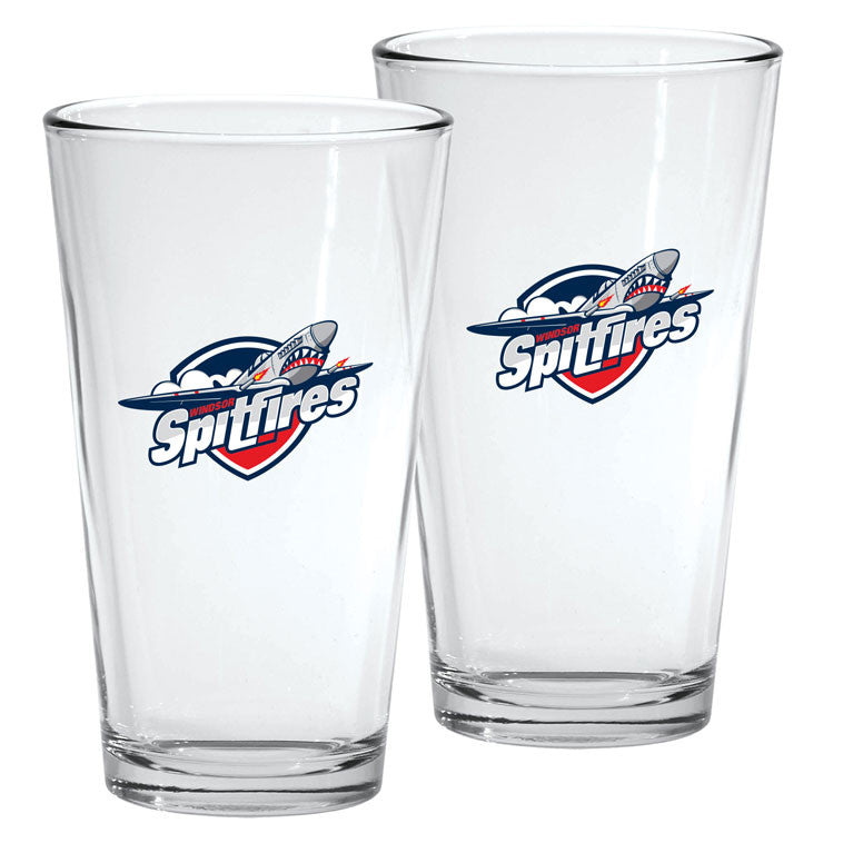 Windsor Spitfires - 2pk. 16oz Mixing Glass Set
