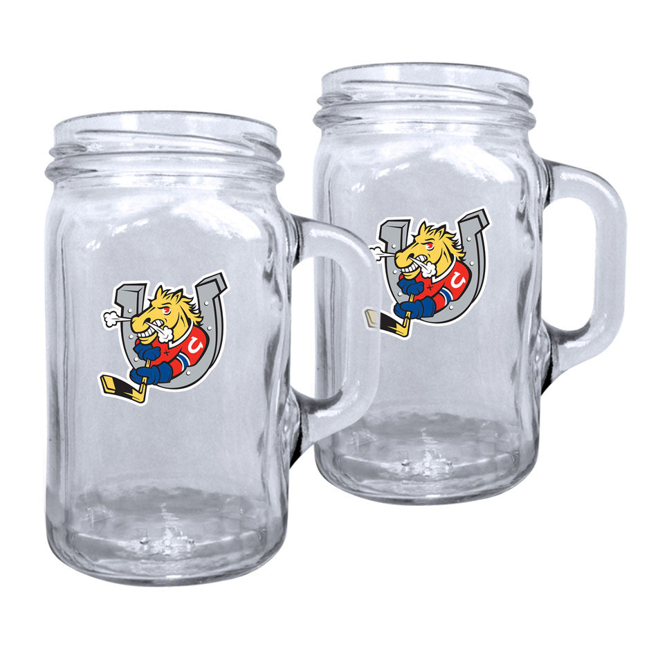 Barrie Colts - 2pk. 16oz Mason Mug Set